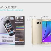 Nillkin Anti Glare Screen Protector Samsung Galaxy Note 5 Whole Set
