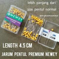 harga Long Jarum Pentul Premium Newey Length 4.5 Cm Tokopedia.com