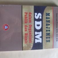 harga Manajemen Sdm Dalam Organisasi Publik Dan Bisnis - By Suwatno, Donni J Tokopedia.com