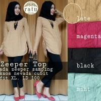 harga Supplier Baju Hijab : Zeeper Top Ori By Ratu Tokopedia.com