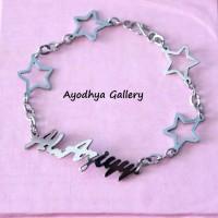 Gelang Nama Bintang - Perhiasan Nama Monel Silver - Gelang Custom