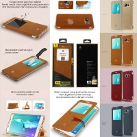 harga Jual Baseus Terse Leather Flip Case Cover Samsung Galaxy S6 Edge Plus Tokopedia.com