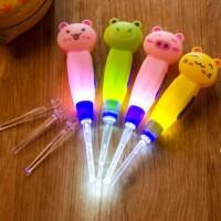 Earpick Cartoon Korek Kuping Telinga Karakter Lampu LED Cute Animal