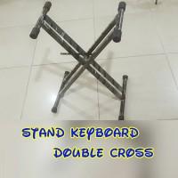 stand keyboard double cross kuat