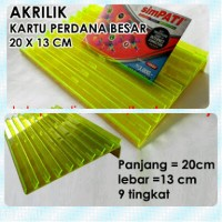harga Akrilik Panjangan Kartu Perdana Ukuran 20 Cm X 13 Cm 9 Tingkat Rak Tokopedia.com