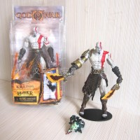 Kratos God Of War Neca with Medusa Head and Golden Flecee Armor
