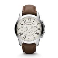 Jam Tangan FOSSIL Original Watch FS4735 Grant Chrono Brown Leather