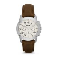 Jam Tangan FOSSIL Original Watch FS4839 Grant Chrono Brown Leather