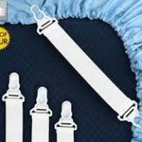 Sheet Grippers tali karet pengait ujung sprei bed cover tempat tidur