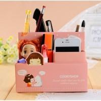 kawai girl box tempat penyimpanan/alat tulis /document/hp organizer