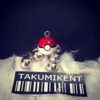 pokemon ball pokeball charm pendant gantungan kunci gelang kalung clay