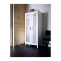 IKEA ANEBODA Lemari pakaian, putih, 81x180 cm