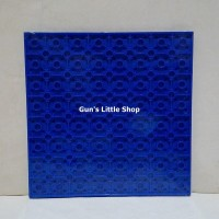 Baseplate Lego base plate - Lele 16 x 16 dots Blue