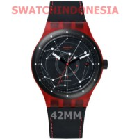 Jam Tangan SWATCH ORIGINAL 100% Murah SUTR400 SISTEM RED Trendy & Fun