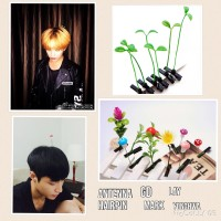 Jepit Rambut Antenna Kpop Kecambah / Cherry / Bunga GD Mark Lay dll
