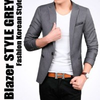 STYLE GREY - BLAZER JAS PRIA COWOK SLIMFIT KOREA CASUAL ABU KEREN