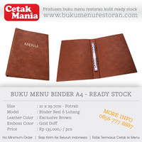 PERCETAKAN BUKU MENU RESTORAN KULIT - READY STOCK