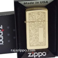 ZIPPO SLIM 1652B Venetian Brass Original USA | Stok LENGKAP & RESMI