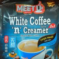 Meet U Malaysia Smooth White Coffee Tarik & Creamer 2 in 1 NO SUGAR