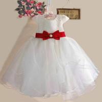 harga Dress Zoe White Red Ribbon-gaun Pesta Anak Perempuan Tokopedia.com