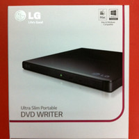 DVD Writer LG Ultra Slim Portable Ext DVDRW Drive USB External ODD