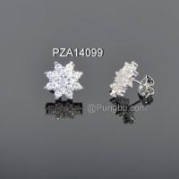 Anting putih bunga matahari PZA14099