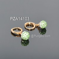 Anting emas bola hijau PZA14103