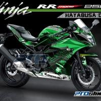 harga Decal Kawasaki Ninja RR Mono 250cc Motif HAYABUSA DC HIJAU Tokopedia.com