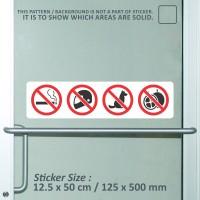 sticker safety sign K3 merokok helm hewan durian gedung toko WSLPC289