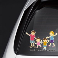 sticker family keluarga anak mobil custom estilo ayla baby FSKPC-021