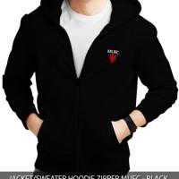 Jaket/Sweater Zip Hoodie MUFC Manchester United - Black