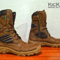 kickers boot safety kulit suade
