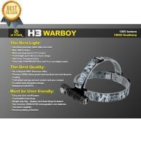 Xtar H3 Warboy Headlamp Senter LED CREE XM-L2 U3 1000 Lumens