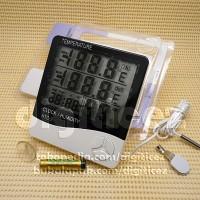 Jual HTC-2 Digital Dual Thermometer Kabel Max Min, Hygrometer Alarm-Clock Murah