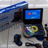 DVD Portable 8inch Tori TPD-700 (USB / MMC / NTSC-PAL / TFT Color / TV Tuner)
