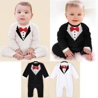 Tuxedo Modelling Romper / baju anak bayi lucu korea