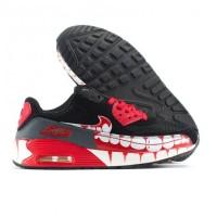 Sepatu Running Nike Air Max 90 Zombie Run Hitam Merah