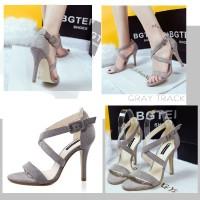 harga 70233 Grey Heel Beludru 10.5cm Sepatu import wanita/high heels/batam Tokopedia.com