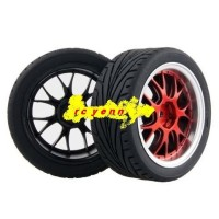 harga Rc 1:10 Car On-road Racing Flat Wheel Rim Tyre, Tires Fit Hsp Hpi 9058 Tokopedia.com