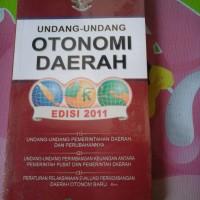 UNDANG-UNDANG OTONOMI DAERAH ED.2011