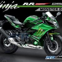 harga Decal Kawasaki Ninja Rr Mono 250cc Motif Monster Dc Hijau Tokopedia.com