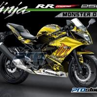 harga Decal Kawasaki Ninja Rr Mono 250cc Motif Monster Dc Kuning Tokopedia.com