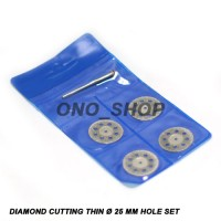 Mata Tuner Diamond Cutting Thin 25mm Lubang Set