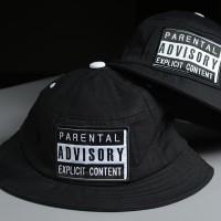 Bucket Hat Parental Advisory - Black