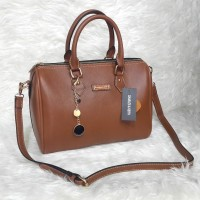 Charles & Keith Classic Bowling Bag - Brown