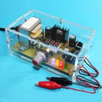 220V DIY LM317 Adjustable Voltage Power Supply Board Learning Kit