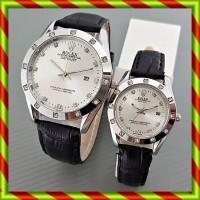 Rolex Couple Kulit Tanggal Hitam Pth | Jam Tangan Pasangan Swiss Army