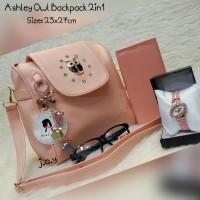 Jual Tas Fashion/Tas Murah/Tas Paketan/Paket 4in1 Ashely Owl Backpack Murah