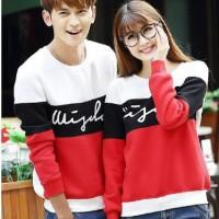 harga Kaos Couple Lengan Panjang / Baju Pasangan 3w putih hitam merah Tokopedia.com