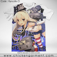 Kaos Anime Kancolle Shimakaze (Kantai Collection) Full Graphic T-Shirt
